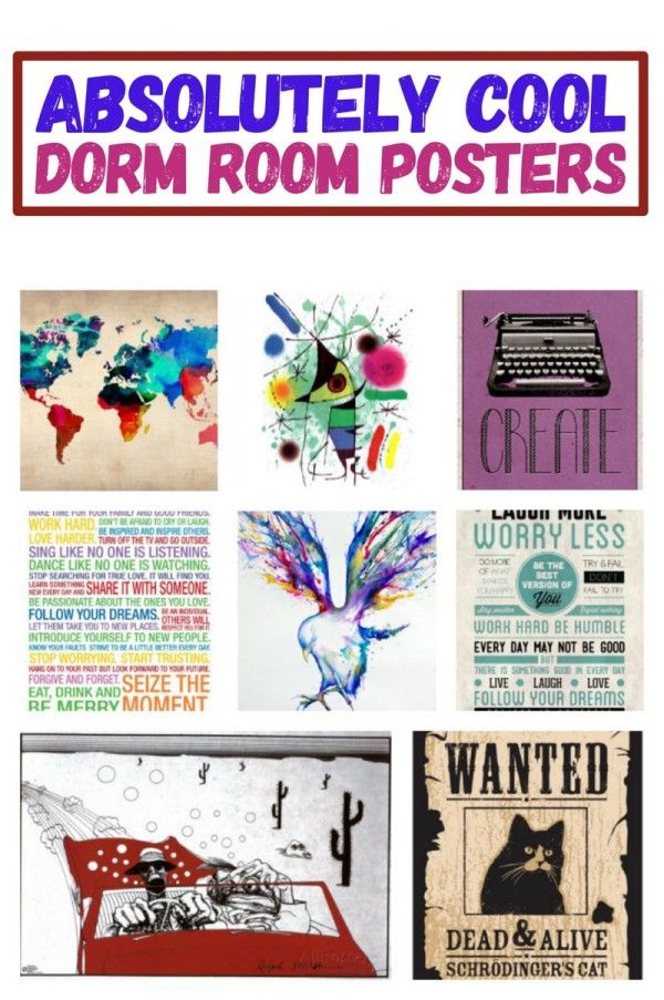 8 absolutely cool posters for your dorm room wall pretty