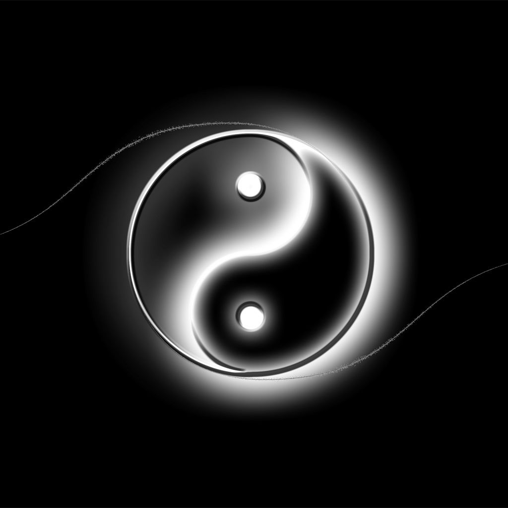 Yin And Yang Logo Art iPad Wallpaper Yin yang, Art