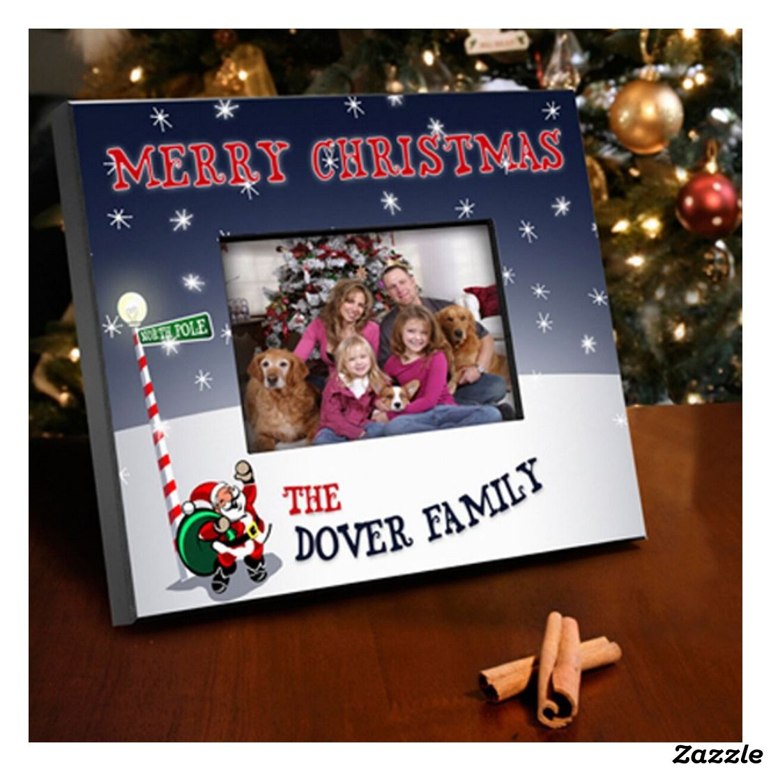 OUR FAMILY CHRISTMAS Holiday photo picture frame