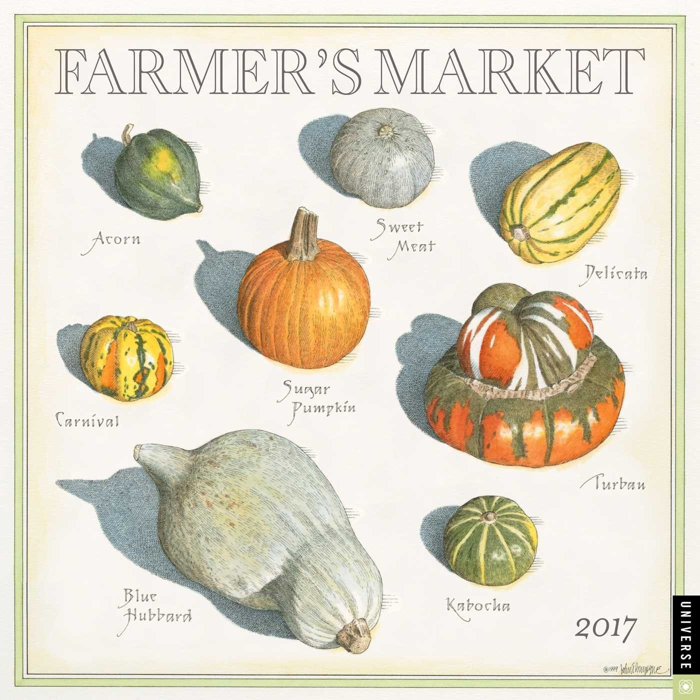 Farmer's Market 2017 Wall Calendar: John Burgoyne