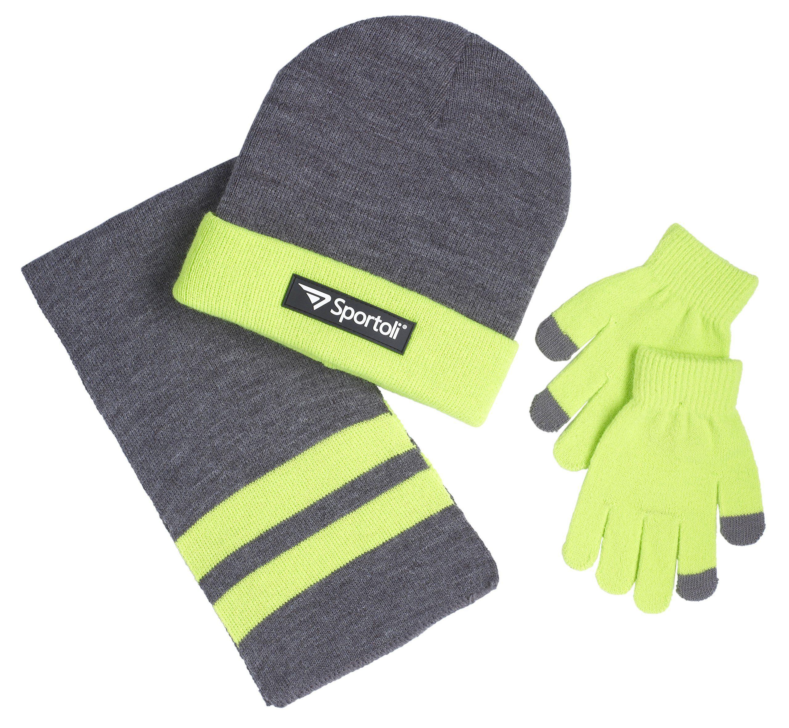 6dccd5408e9 Sportoli Boys  Kids Knit Cold Weather Accessory Set Warm Hat