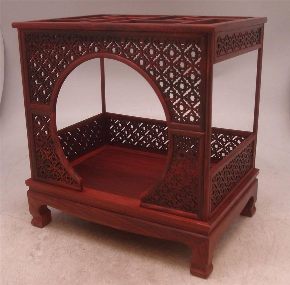 Rosewood Bedroom Furniture Miniature Chinese Carved Rosewood Opium Bed Apprentice