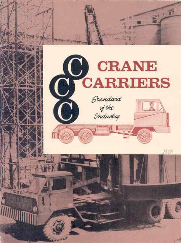 1958 CCC Crane Carrier Truck Brochure wo8376-F9C2UN