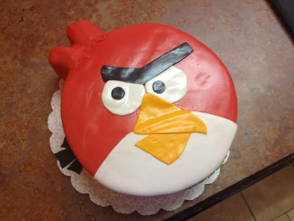 Angry Bird Birthday Cake by Tanya Williams at Midtown Cakes in