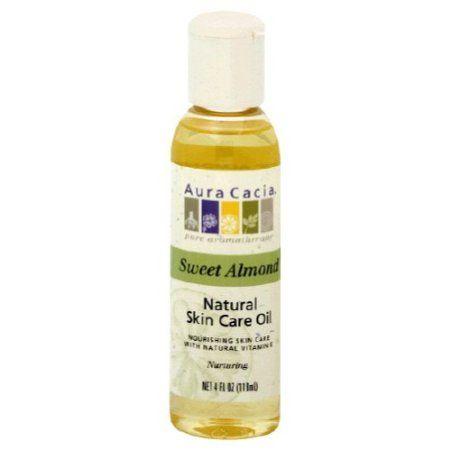 Aura Cacia Skin Care Oil Sweet Almond 4 Fl Oz Natural Oil Skin Care Oil Skin Care Natural Oils For Skin