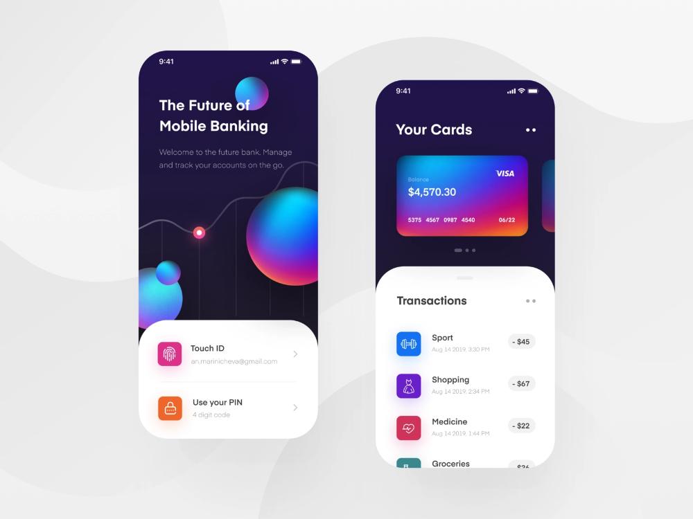 Mobile Banking App App, Mobile app design, App design