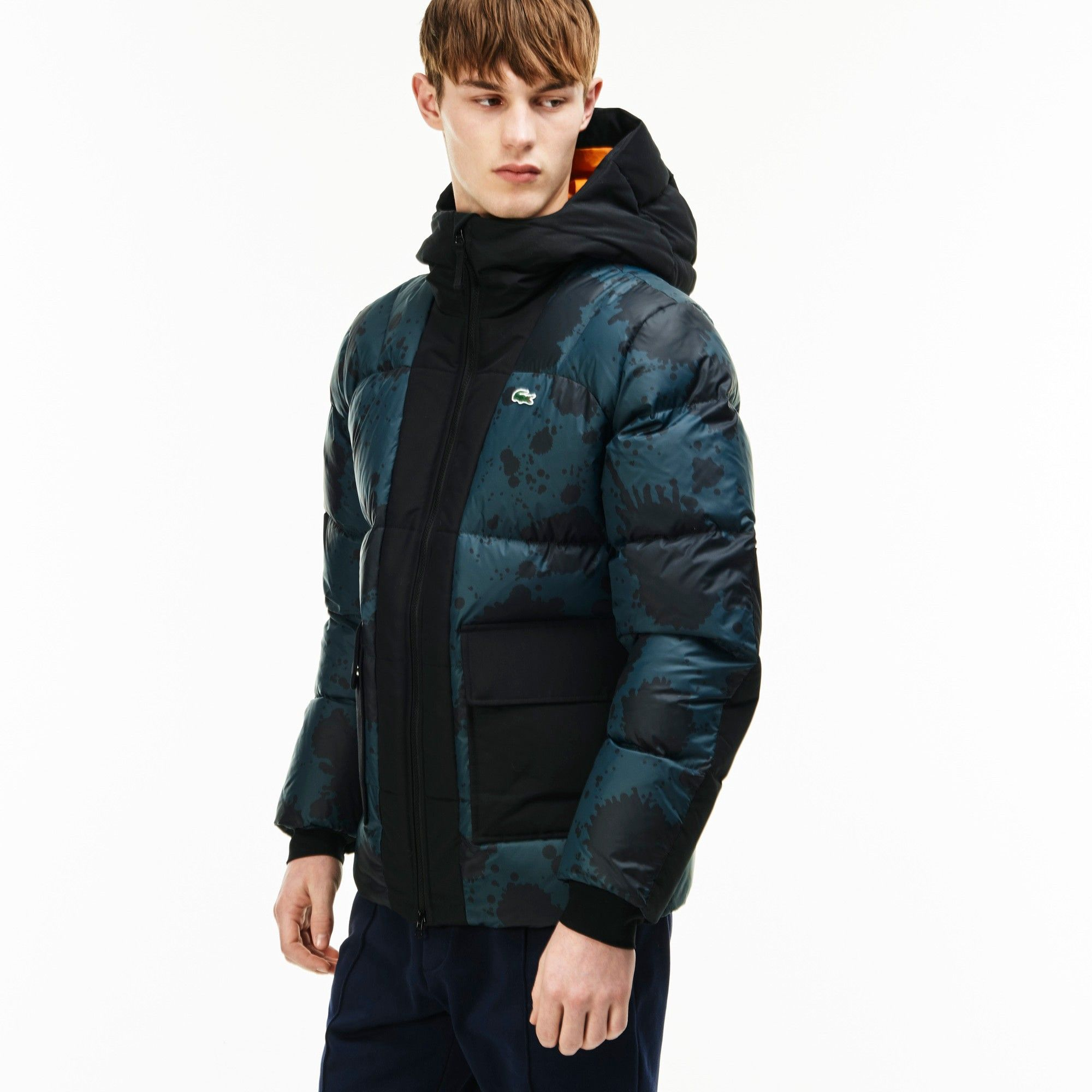 b0bb2877f9 LACOSTE Men's Lacoste LIVE Hooded Colorblock Quilted Jacket -  BOX/MULTICO-BLACKBOX/MULTICO-BLACK. #lacoste #cloth #