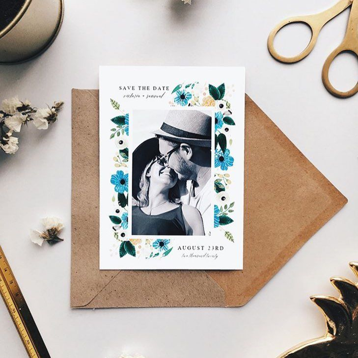 floral save the date card by art iisan grab yours on our website