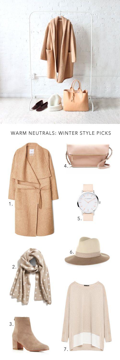 warm neutral winter style picks via Anne Sage