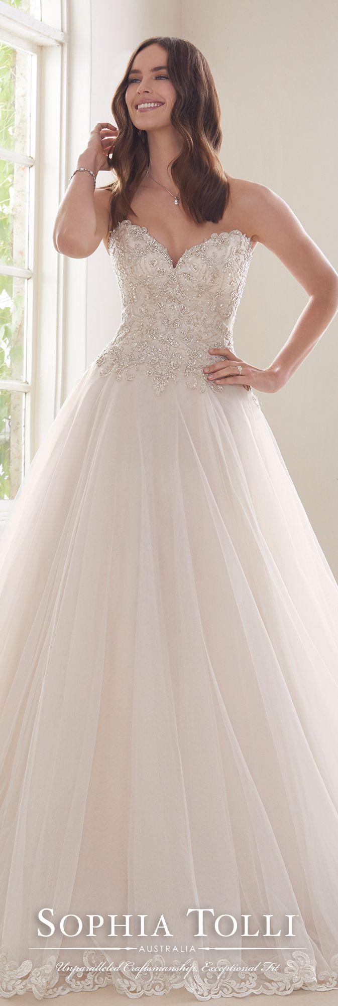 Strapless Sweetheart u Misty Tulle Ballgown Wedding Dress  Wedding