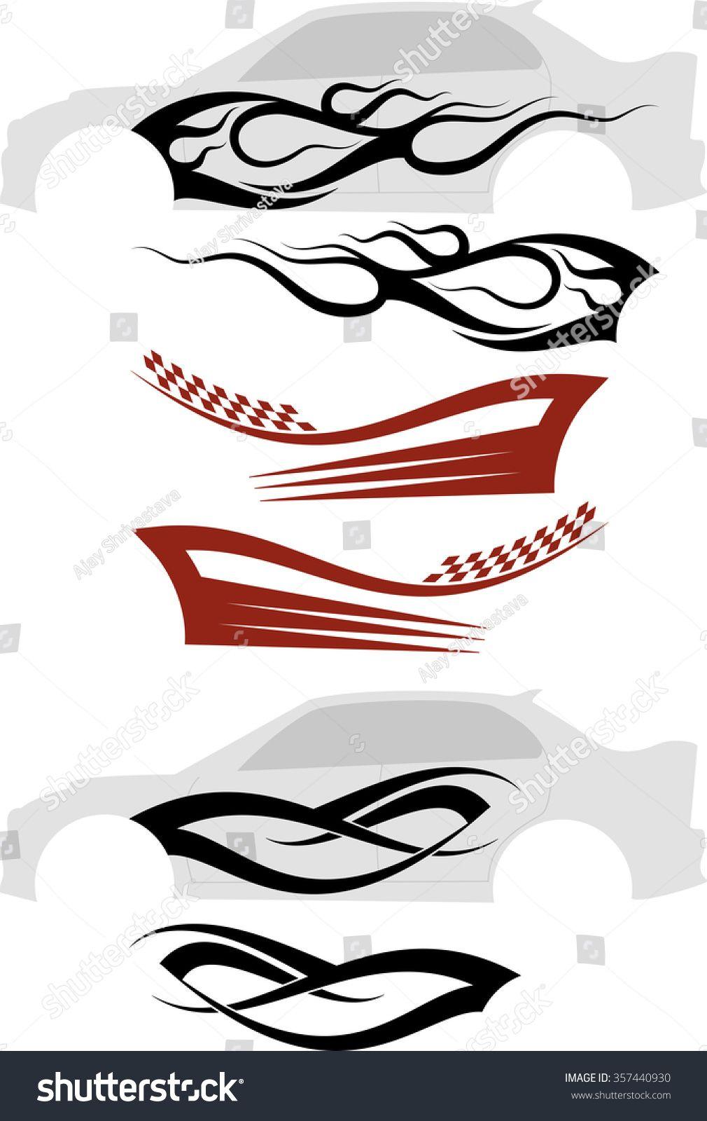 Ilustracoes Stock Imagens E Vetores De Vehicle Graphics Stripe Vinyl Ready Raster 357440930 Car Brands Logos Body Stickers Motorcycle Tank [ 1600 x 1010 Pixel ]