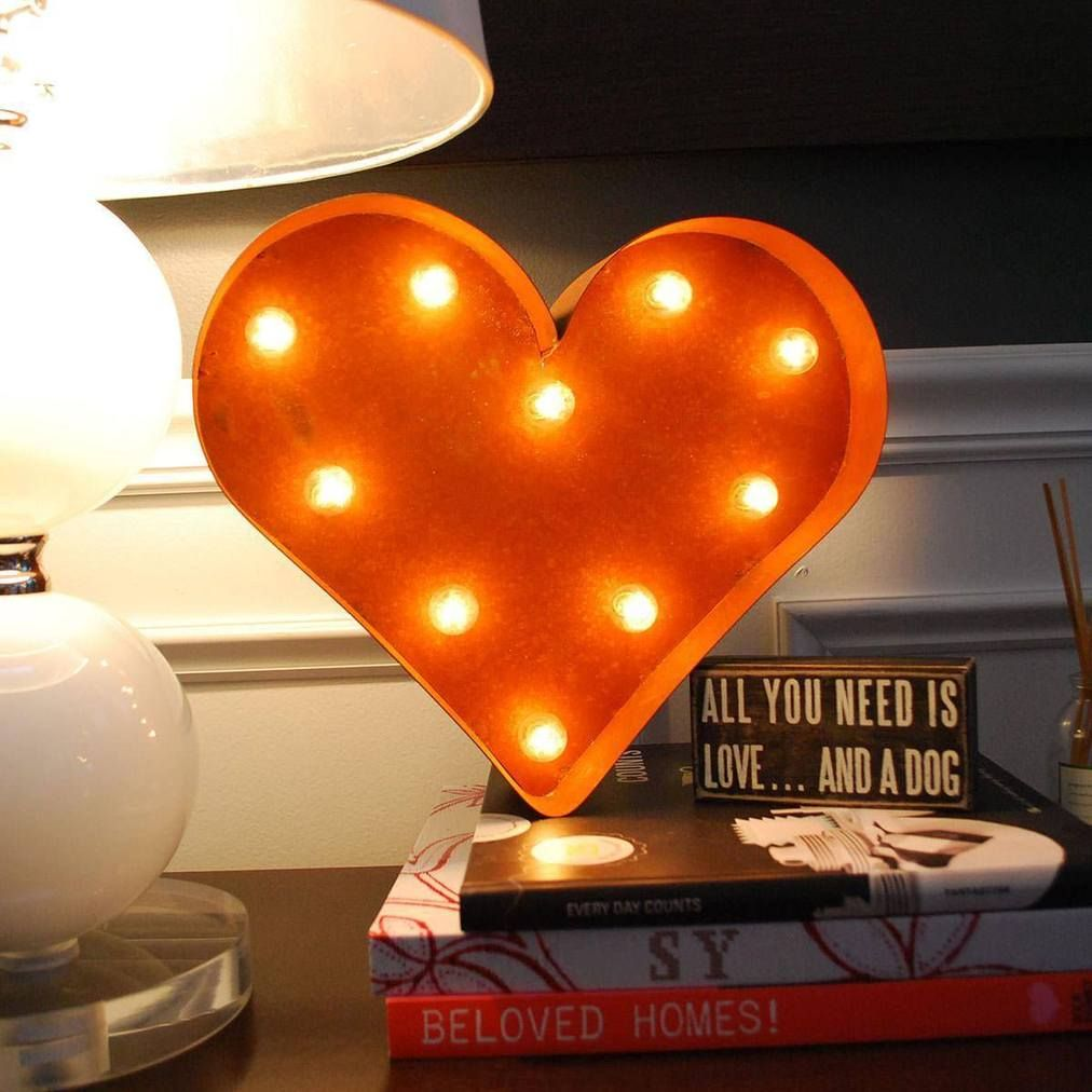 12 Small Heart Vintage Marquee Sign With Lights Vintage Marquee Sign Vintage Marquee Vintage Marquee Lights