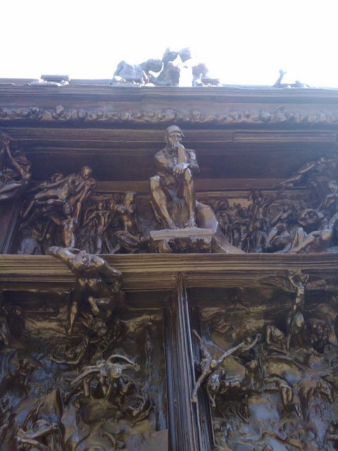 Did you know Rodin's famous Thinker was just a study for his monumental Gates of Hell?