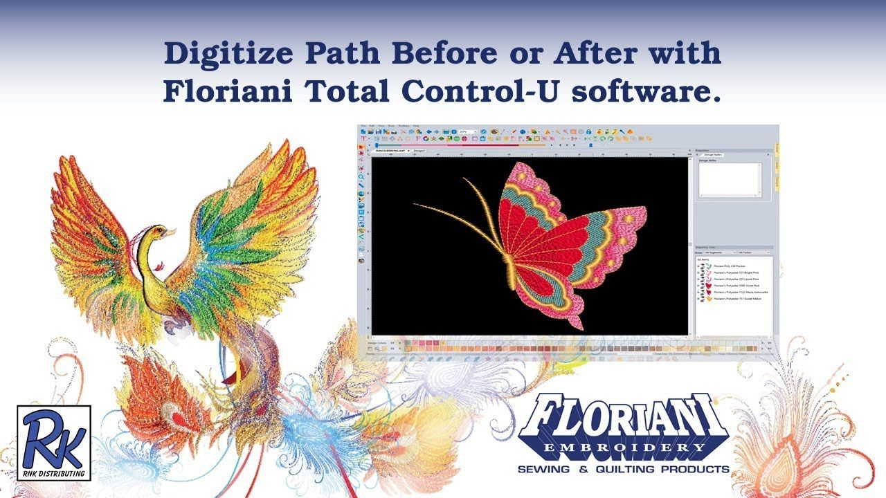Floriani FTCU Digitize Path Before or After Floriani