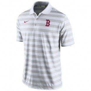 Boston Red Sox Nike MLB Dri-Fit Polo 1.5 Polo (White)