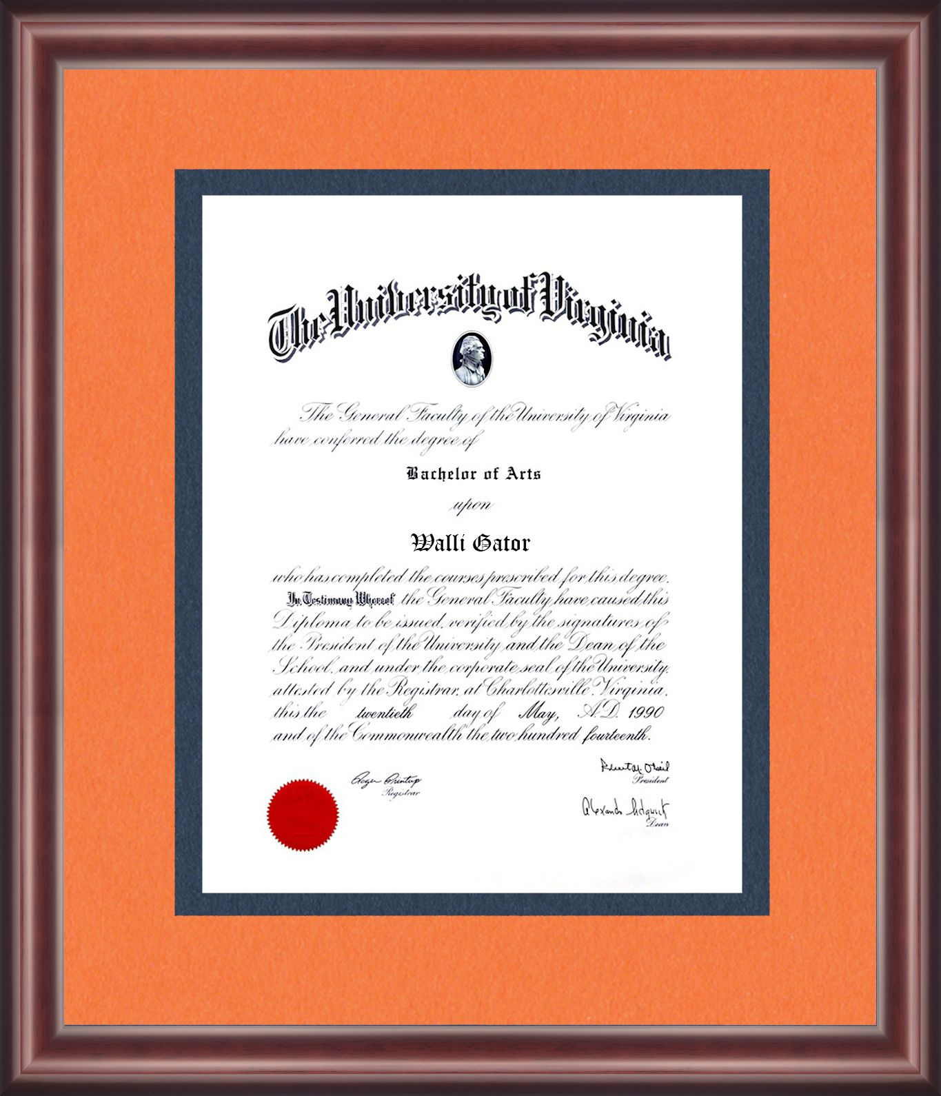 University Of Virginia Diploma Frame Diploma Frame University