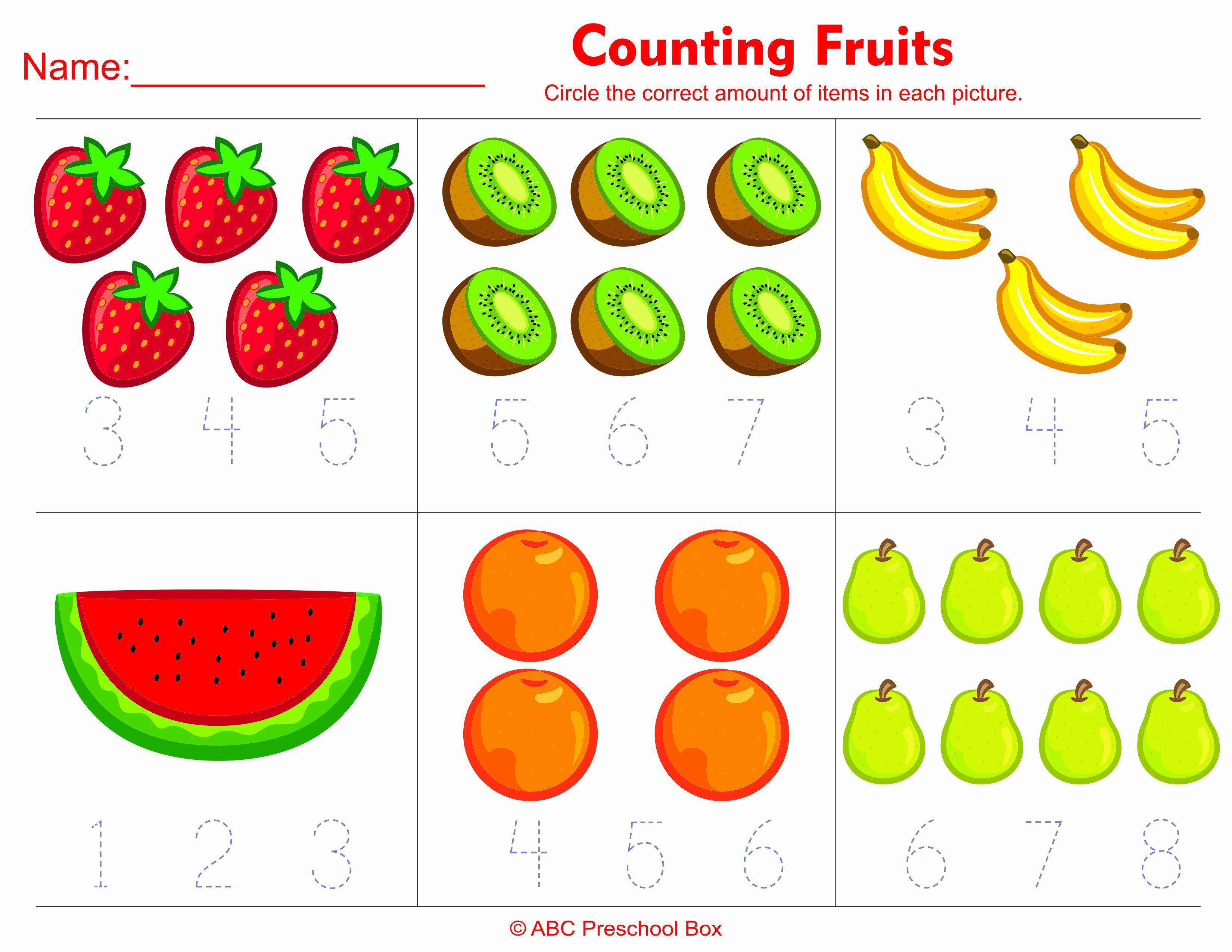 Fruits Coloring Worksheets For Kindergarten With Images