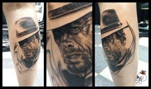clint_eastwood_tattoo_portrait_fusion_ink_sunskin_ominous_angus_tatuointi_muotokuva