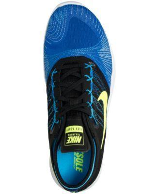 99b23a52b31a Nike Women s Flex Adapt Tr Training Sneakers from Finish Line - Blue ...