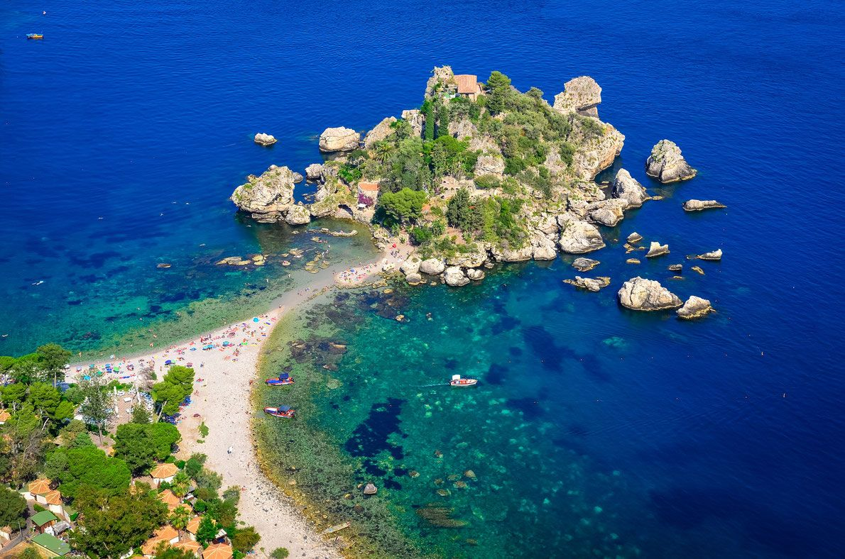 Isola Bella beach in Taormina, Sicily, Italy Best