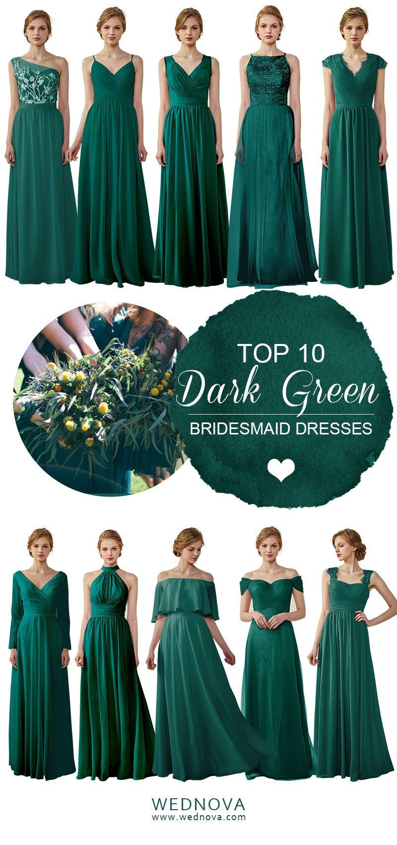 Dark Green Chiffon Bridesmaid Dress High Quality Halter Dress V Neck Dress With Dark Green Bridesmaid Dress Green Bridesmaid Dresses Summer Bridesmaid Dresses