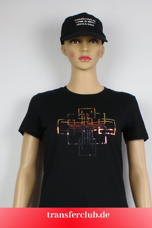 T Shirt Für Damen Motiv Geometric Schwarzes Damen T Shirt Damen T Shirt In Schwarz T Shirt Damen Shirts T Shirt