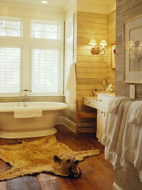 Hands down, my favorite bathroom. BOOM Horizontal Weathered Gray ...