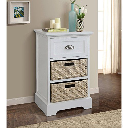 Gallerie Decor Newport Single Drawer 2 Basket Table Cream. Console ...