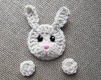 Häkeln Bär Applikation Set von 2 Stück, Waldtiere, häkeln Tiere, Teddybär Applikation, Tiermotive, genäht auf Applikationen, Kinderbekleidung #crochetbear