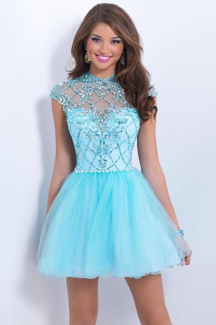 Biggest Sale 2015 Homecoming Dresses Color Blue Size 0 2 4 6 Ship ...