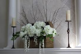 contemporary Christmas floral candle arrangements