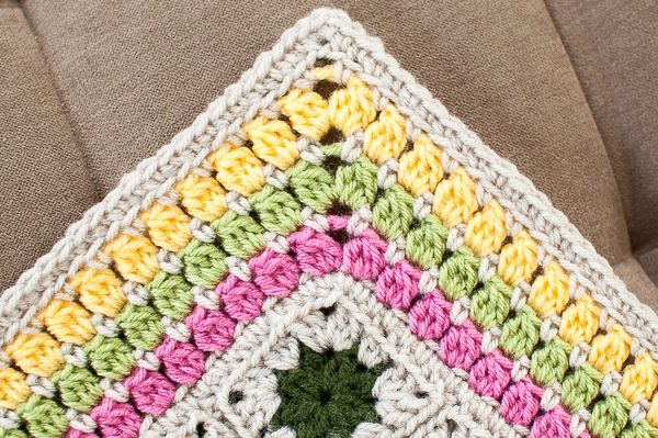 Free Crochet Pattern For Blanket Edging : Cluster Burst Afghan Crochet Edging Pattern Crochet ...