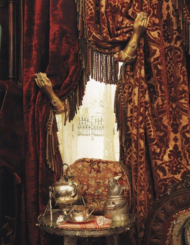 Layered Steampunk Curtains