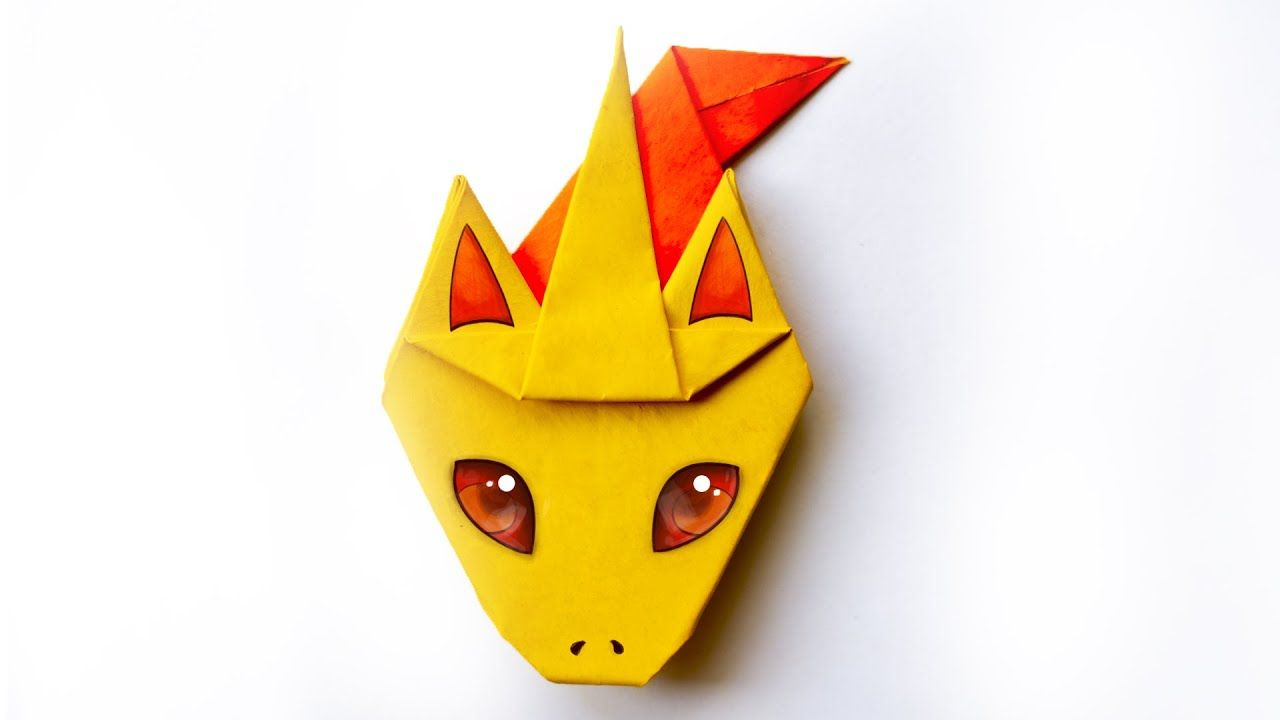Photo of Pokemon RAPIDASH from Paper. Easy Origami Tutorial with Diagram