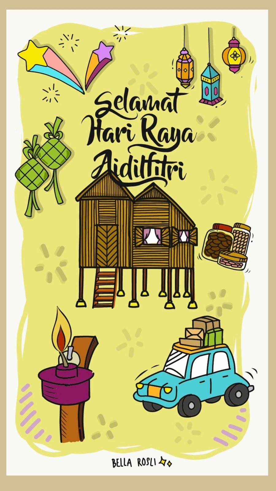 Pin By Farah Nabilah On Avatar Cards Selamat Hari Raya Free