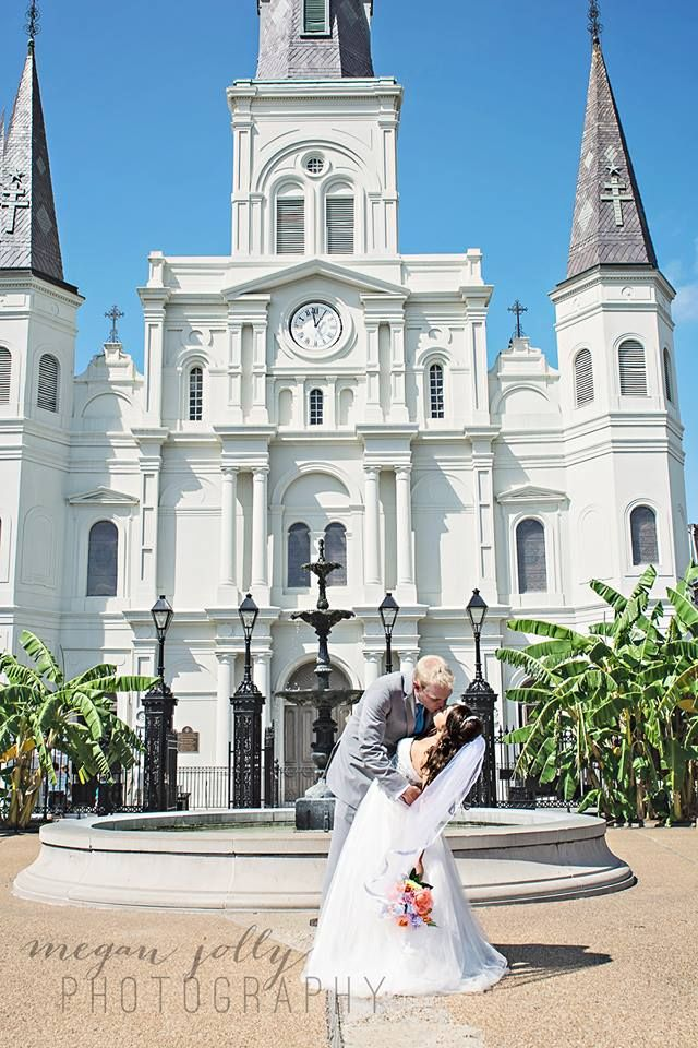 Jackson Square St Louis Cathedral Wedding New Orleans