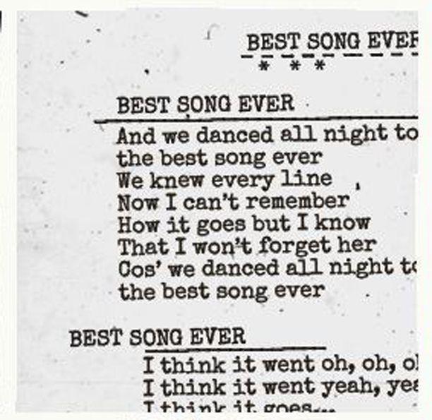 Download Best Song Ever Wallpaper Lyrics Gallery