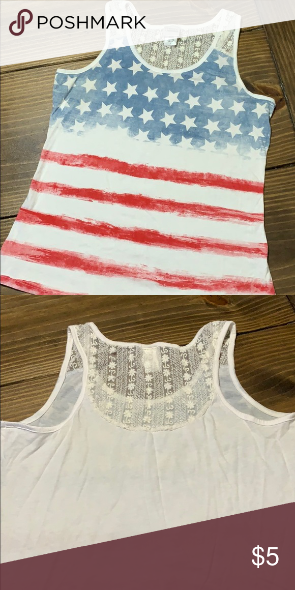 American Flag Tank Cute Top For Summer Celebrate Fourth Of July Memorial Day Etc Tops Tank Tops Tank Top Fashion Clothes Design American Flag Tank