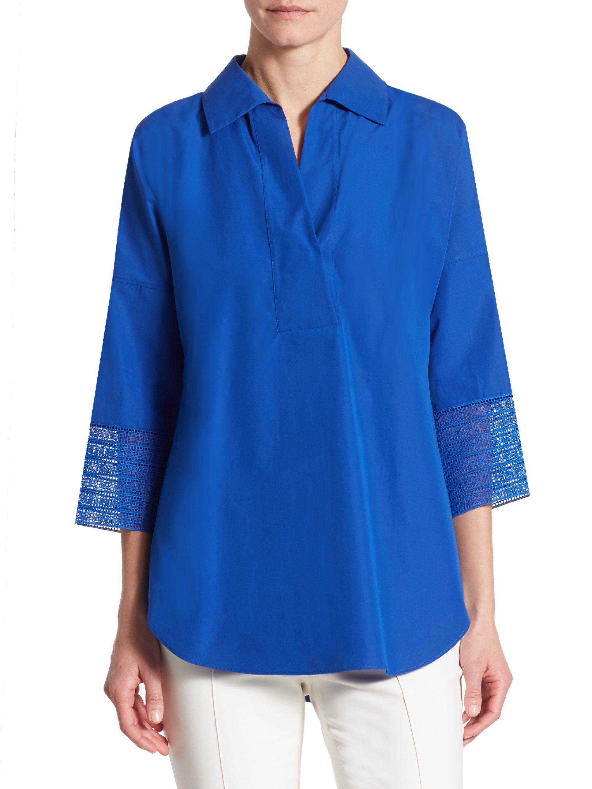386b0e7a3 Lace Kimono Blouse by Akris Punto | Products | Kimono blouse, Lace ...