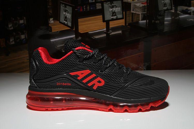 quality design cdb39 82f14 Mens Nike Air Max 2018 Elite KPU TPU Shoes Black Red