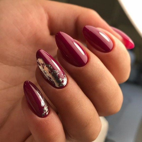 50 Chic Burgundy Nail Designs for Winter 2019 – •◇Beauty