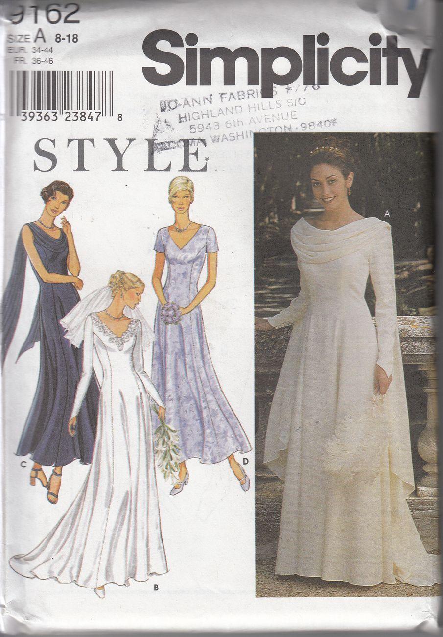 simplicity dress pattern 9162 | wedding gown ideas | Pinterest