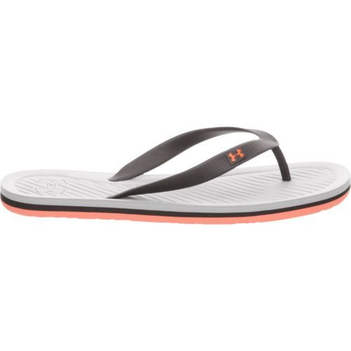 9b301765ed4 Under Armour Men s Atlantic Dune Soccer Slides (Gray Wolf Phoenix Fire