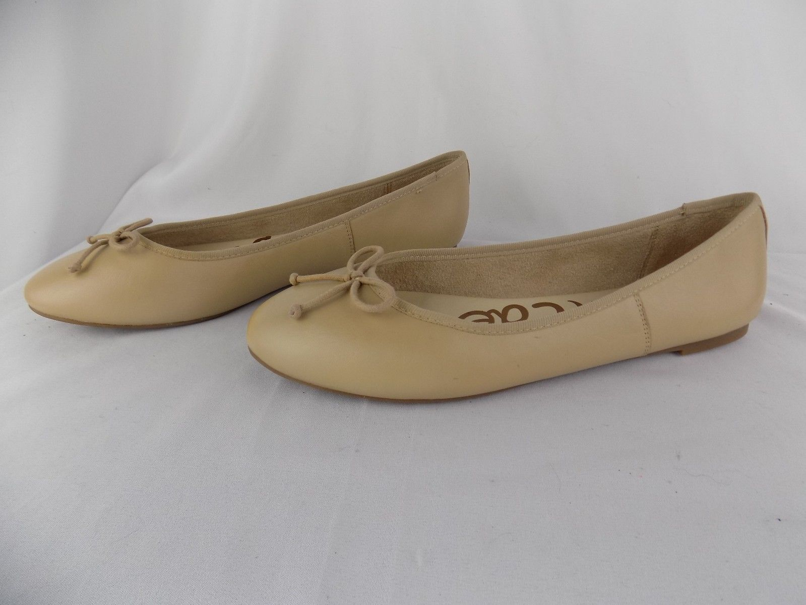 b42b7f4f2acb 80.00 USD ❤ New Sam Edelman Women s Carrie Ballet Flat Slip On Shoes Nude  Sz 10