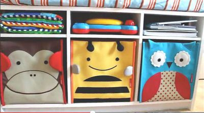 Monkey Ble Bee And Owl Theme Baby Nursery Storage Bins