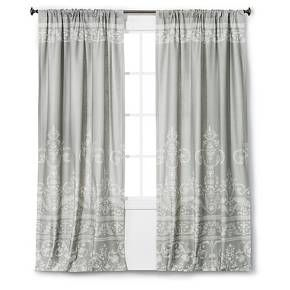Vintage Gate Curtain Panel Gray The Industrial Shop Target Panel Curtains Vintage Curtains Industrial Furniture Decor