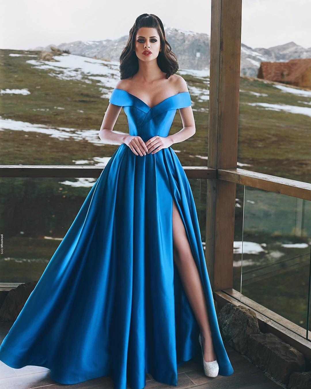 royal blaue abendkleider lang günstig a linie abiballkleider