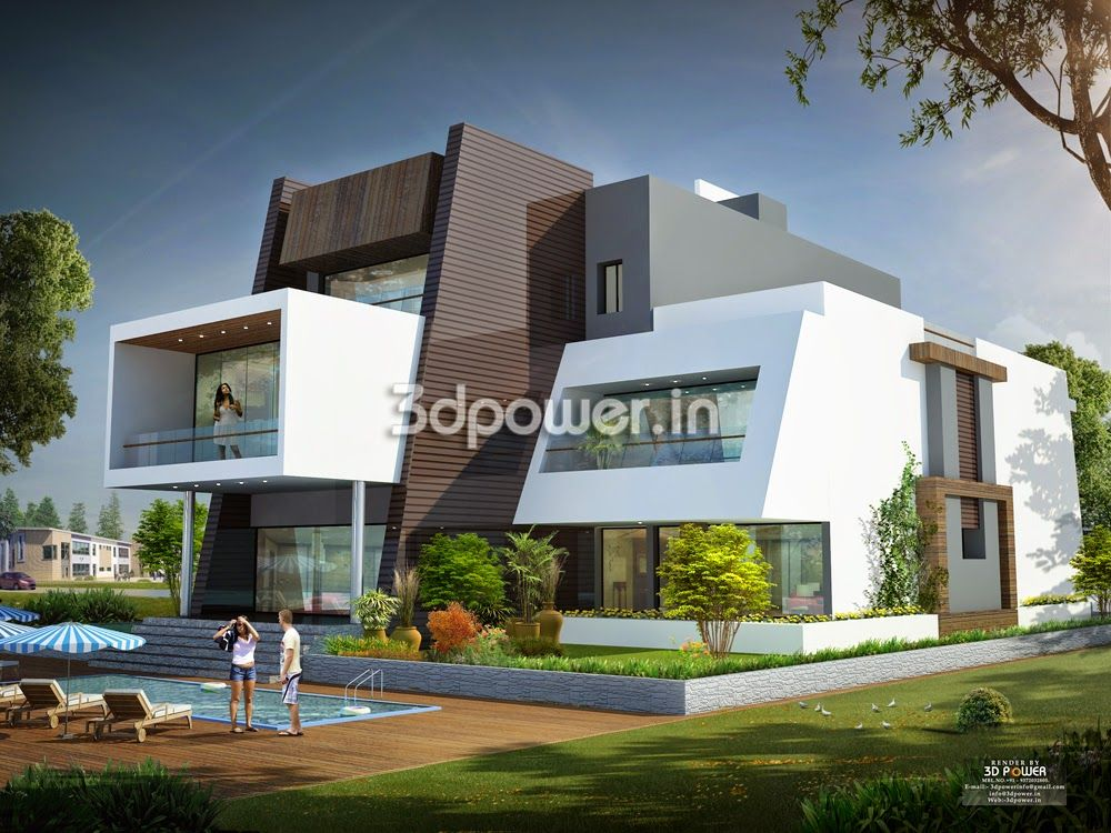 Ultra modern home designs house 3d interior exterior for Home exterior design india residence houses