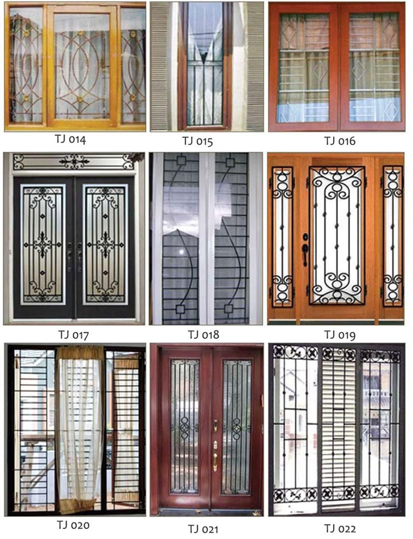 Wrought Iron Popular Window Grill Design Catalogue 2018 3