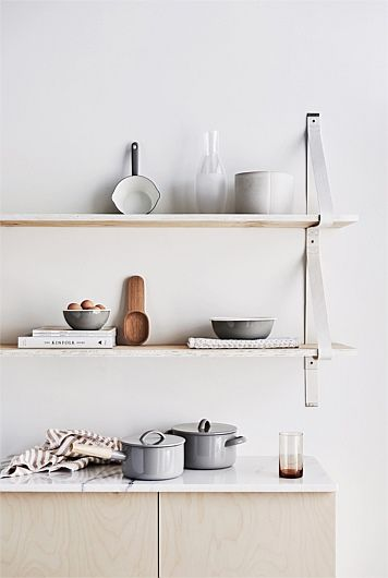 shelfie leather strap shelves for the kitchen organise open rh pinterest com shelves for the kitchen wall shelves for the kitchen ideas